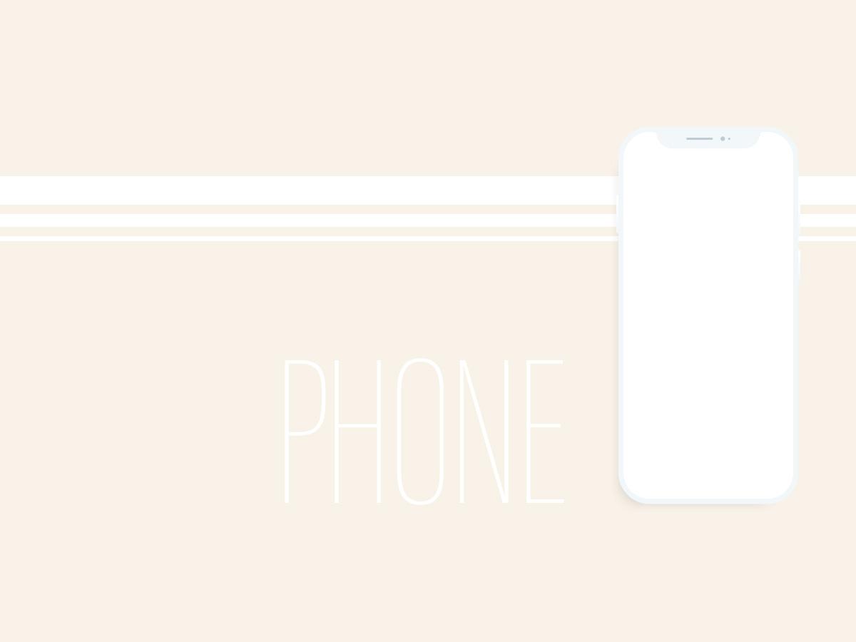 Just White Phone mockup smartphone device phone mobile minimalism vector illustration