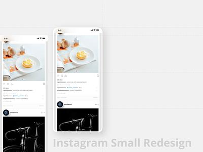 Instagram small redesign app ux instagram redesign smartphone ui minimal web mobile design minimalism
