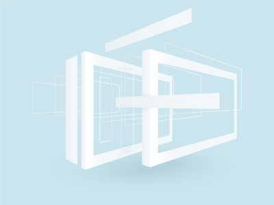 Abstract forms window frame geometic rectangle form abstract minimal vector illustration minimalism
