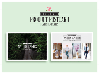 Creative Product Postcard Flyer Templates By One Dollar Graphics