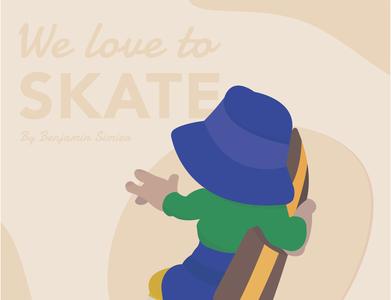Skateboarder drawing artwork skateboard illustrator skate illustration