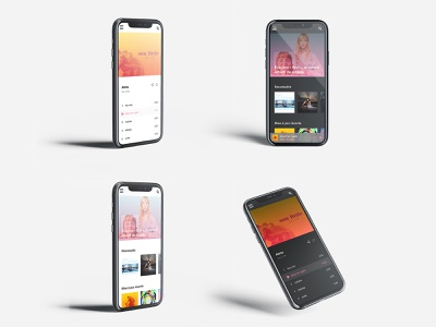 Music mobile application design music player music art music music app application design application ui  ux artwork adobe xd ui design