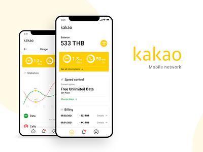 Kakao - Mobile network adobe xd xd app design app data network mobile network mobile thailand korea kakao design