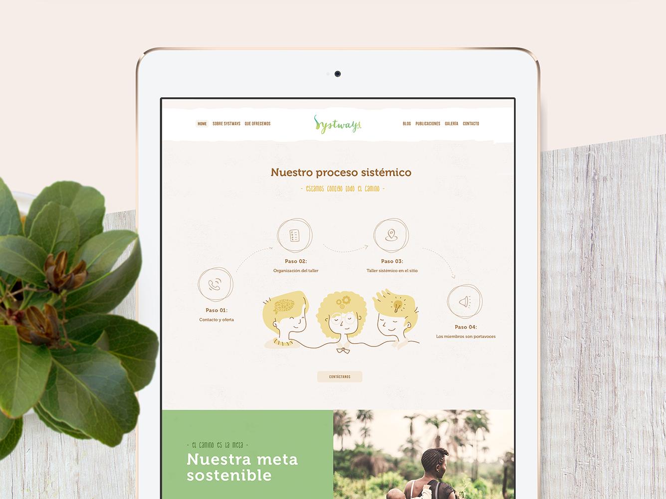 Systways nature environment help ngo earth illustration ui web design
