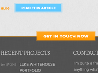 Home Page Footer & CTA Button