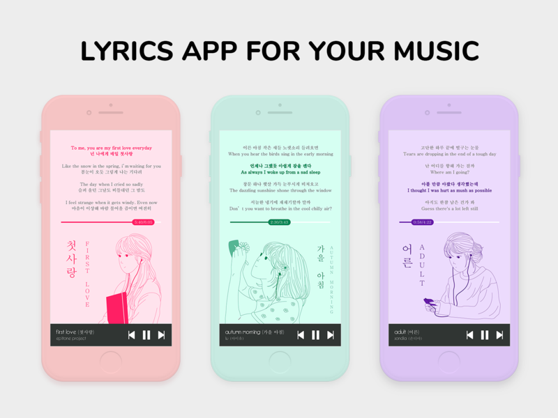Lyrics App For Your Music by Thuong Tang on Dribbble