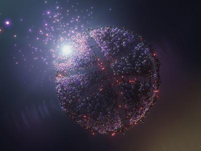 Greeting birth octane cinema 4d space sphere clones sketch ball