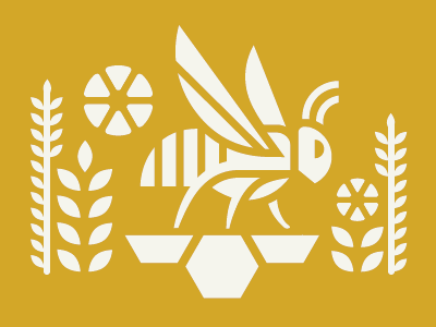 BLOM BEE FINAL branding logo mead honey bee