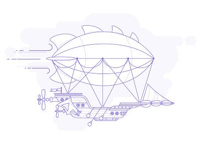 Zeppelin  flying ship airship zeppelin