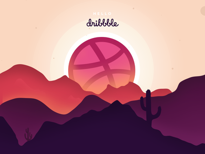 First Post colorful background design graphic horizon colors illustration post dribbble first