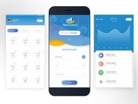 Online Stocks Buy & Sell - Mobile app UI