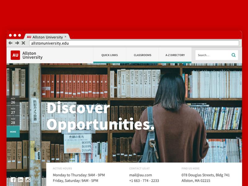 Dribbble university educational uidesign ui  ux design web deisgn landing page