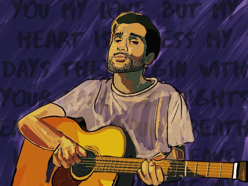 Procreate illustration: Prateek Kuhad music illustration paint procreate