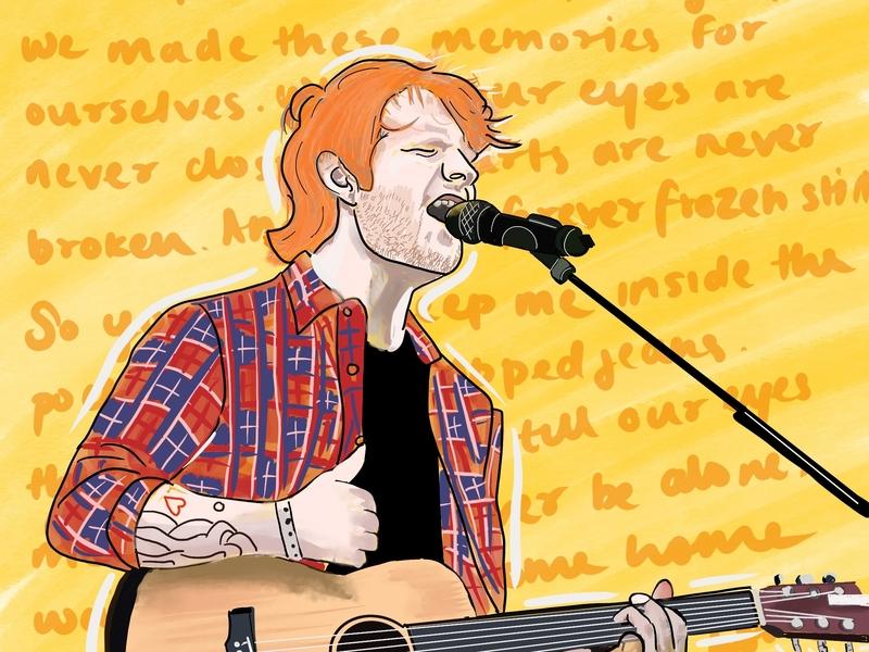 Ed Sheeran Digital Art digital artwork paint procreate illustration digital art songs acoustic guitar acoustic music ed sheeran