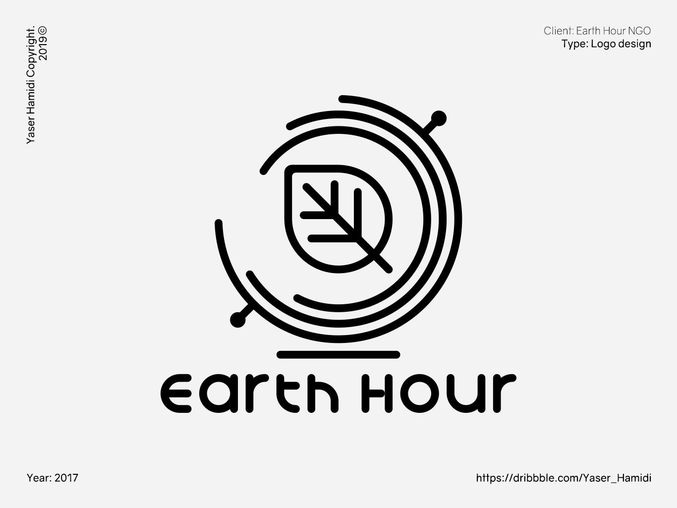 Earth Hour NGO | کمپین ساعت زمین vector typography design branding symbol logotype logotipo logoinspiration logodesign logo icon illustrator illustration brand design