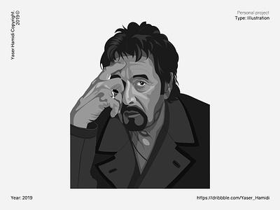 Al Pacino artist al pacino adobe illustrator flat illustration flat design flatdesign designer graphic graphic design vector illustration vector design illustrator illustration