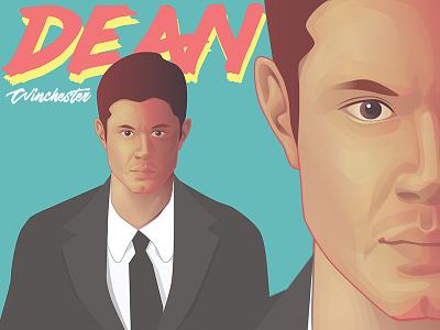 Dean Winchester fan art portrait vector supernatural dean winchester