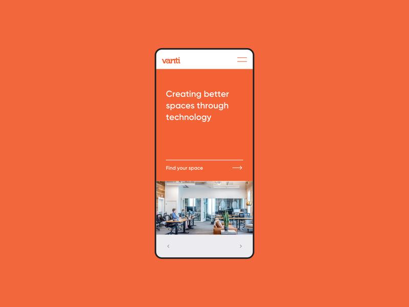 Vanti #01 brand design brand identity orange technology sketchapp minimal branding mobile design responsive design web design ux ui visual design