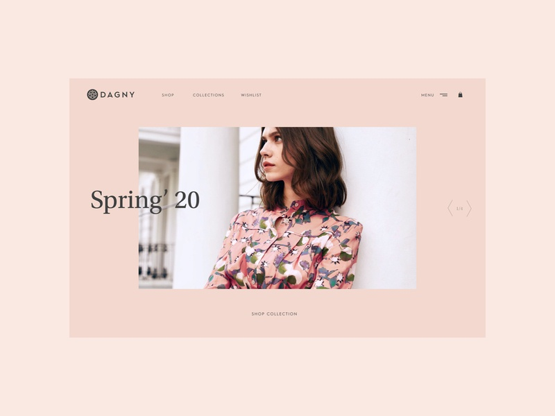 Dagny #03 navigation typography brand identity minimal brand design branding visual design digital design screen design ecommerce website web design ux ui