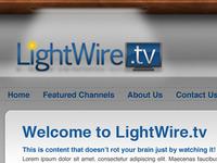 Lightwire logo in website header