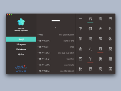 Learn Japanese on macOS/Desktop