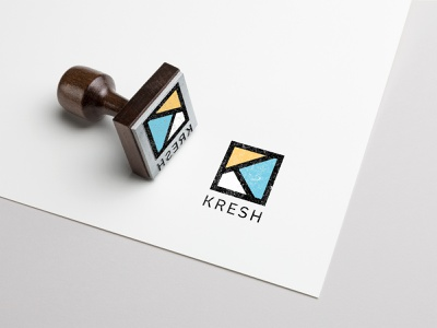 Kresh Identity stamp branding logo graphic design brand identity