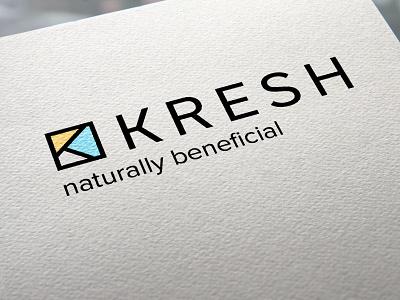 Kresh brand identity healthy fresh branding logo graphic design brand identity