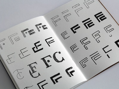 FC sketches process sketchbook mortgage loans logo graphic design branding brand identity