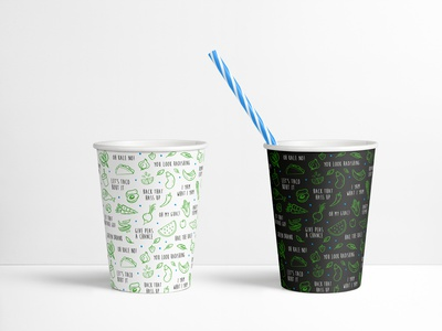 StreatFood RX cups cup green food healthy fresh logo branding graphic design brand identity
