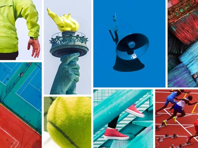 SS20 Color Direction - POWER color palette moodboard color creative direction new balance footwear sports graphic design