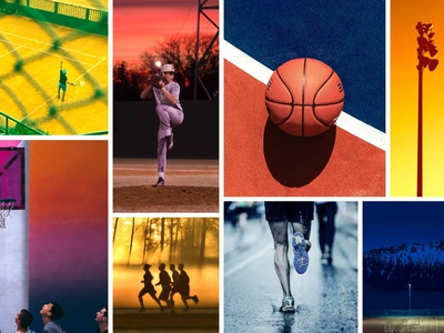 SS20 Color Direction – ACTIVE active new balance creative direction moodboard color palette color footwear sports graphic design