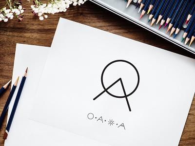 Olivia Allen Jewelry Boutique boutique logo jewelry mountain sun process sketch logo branding brand identity graphic design
