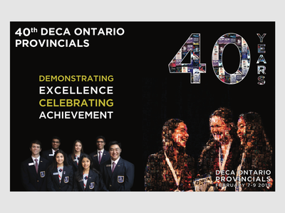 40th DECA Ontario Provincials Programme Cover collage photo background deca programme