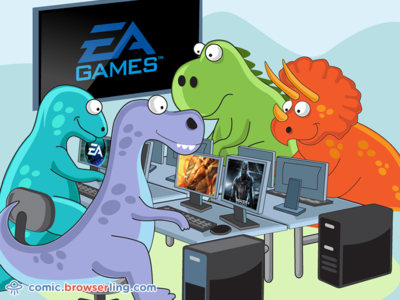EA Games Joke gaming playstation pc games game dinosaurs dinosaur ea games electronic arts ea