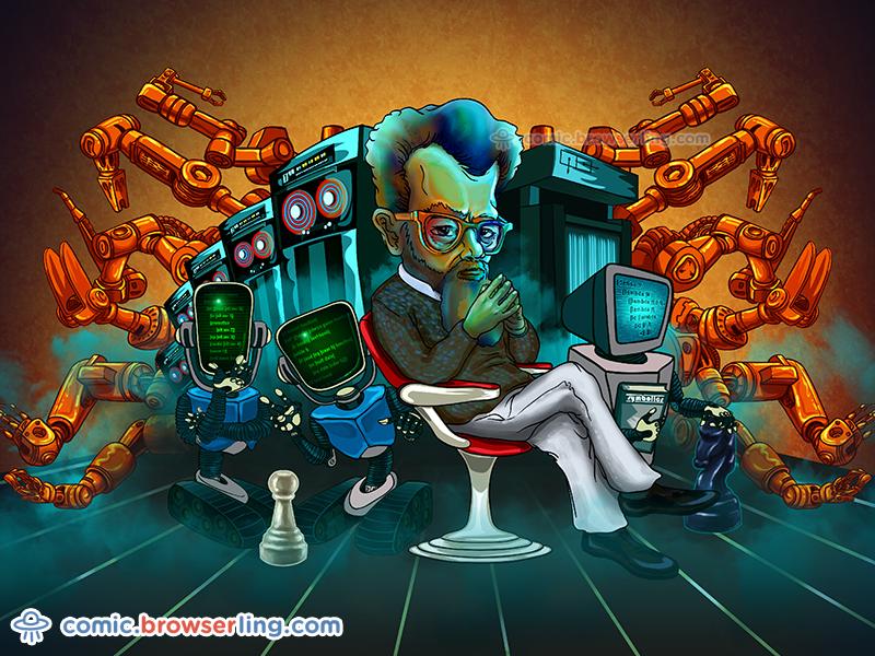 Artificial Intelligence Comic knight mit robots robot artificial intelligence ai chess symbolics lisp john mccarthy