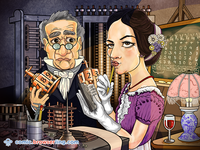 Ada Lovelace and Charles Babbage