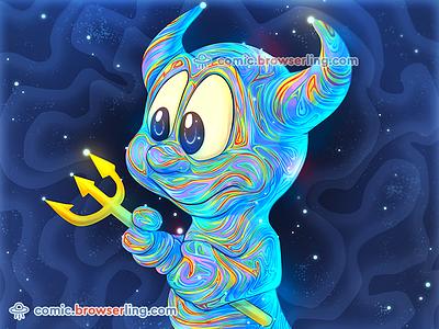 BSD Beastie openbsd colors night pitchfork berkeley unix lsd sky beastie bsd