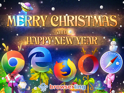 Merry Nerdy Christmas! browserify mage apple safari opera browser mozilla firefox microsoft edge google chrome browsers happy new year merry christmas browserling