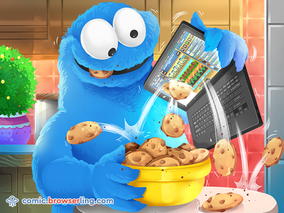 Cookie Monster Joke cartoon comic browser cookies browser cookie browsers browser cookie monster cookies cookie