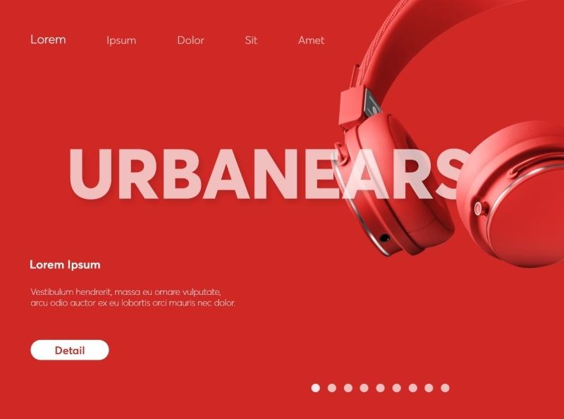 Urbanears Landing Page ux minimal animation web design ui color colorful slider headphone landing page landingpage landing music urbanears