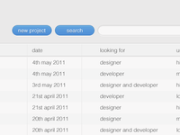 Projects List Preview