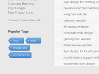 Projects Tags Preview