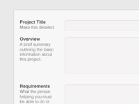 Projects Form Preview