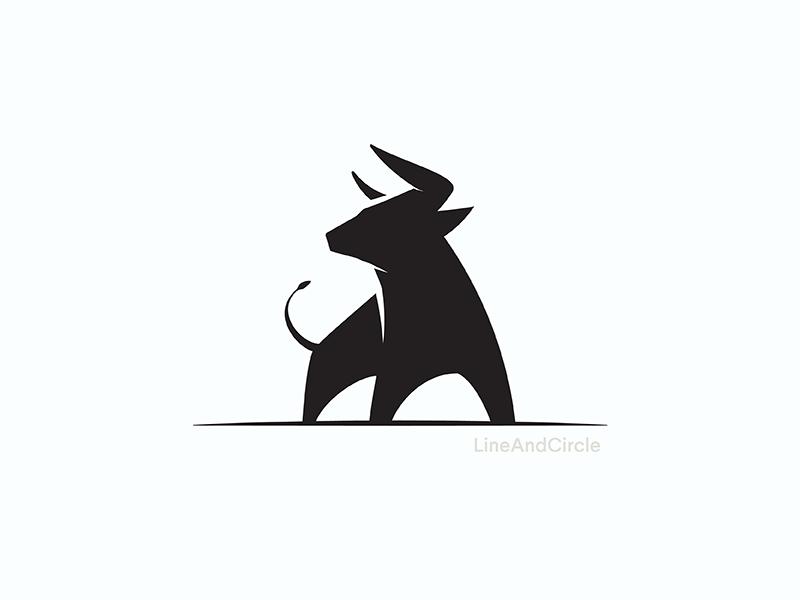 Bull Logo By Raffal Lineandcircle Dribbble