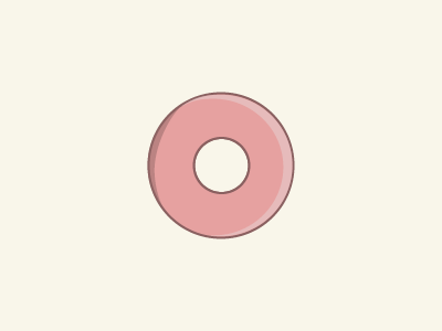 Donut dessert sweet pink donut