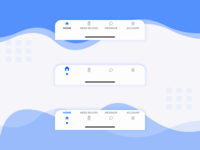Donor App | Bottom Navigation Concepts