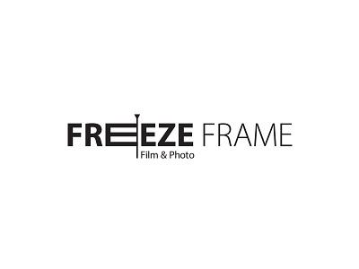 Freeze Frame myriad logo flat minimal black and white logo filmmaker film video production company photography logo camera frame freeze freeze frame photography