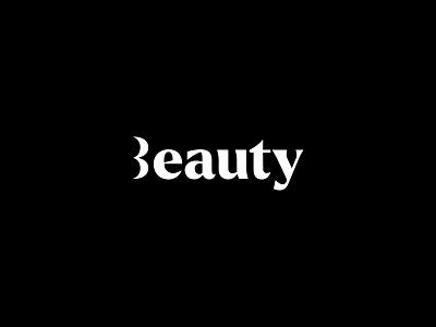 Beauty logo minimal modern negative space cosmetics beauty logo beauty lips