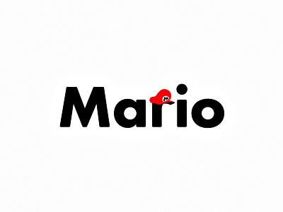 Mario vector branding video games gaming nintendo super mario mario logo design flat minimal modern