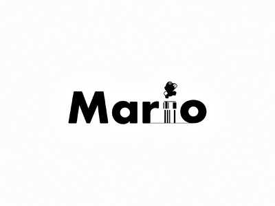 Mario. (2/2) video games gaming nintendo super mario mario logo design flat minimal modern